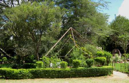 The Katayi Family Garden was designed in form of a pyramid in memory of Mr. Fred Lupandula Katayi. Mr. Katayi was one of Zambia's most prominent architects and played a huge role in the designing of buildings such as the Kabwe Tannery, Zambia Open University, Indeco Milling and government houses in Kabwe, Kitwe and Ndola. /